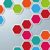 Abstract hexagonal background Stock Images