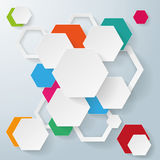 Abstract hexagonal background Royalty Free Stock Image