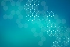 Abstract hexagonal background. Medical, scientific or technological concept. Geometric polygonal graphics. Illustration. Royalty Free Stock Photos
