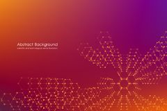 Abstract hexagonal background. Medical, scientific or technological concept. Geometric polygonal graphics. vector Stock Photo