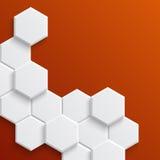 Abstract hexagonal background Stock Image