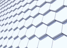 Abstract hexagonal design background. 3D rendering Royalty Free Stock Images