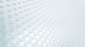 Abstract hexagonal grid 16:9 metal background with blurred reflections. Abstract perspective hexagonal grid 16:9 metal background with blurred reflections you royalty free illustration