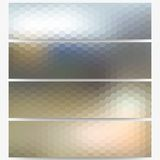 Abstract hexagonal headers set, blurred design Stock Photos