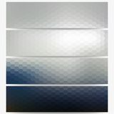 Abstract hexagonal headers set, blurred design Stock Images