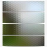 Abstract hexagonal headers set, blurred design Royalty Free Stock Photography
