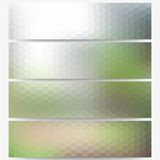 Abstract hexagonal headers set, blurred design Royalty Free Stock Image
