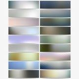 Abstract hexagonal headers set, blurred design Royalty Free Stock Photo