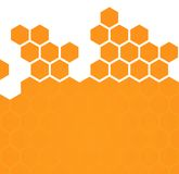 Abstract hexagonal honeycomb background Royalty Free Stock Image