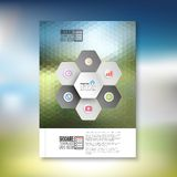 Abstract hexagonal infographic pattern. Brochure Royalty Free Stock Photo
