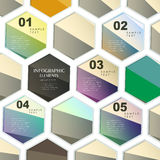 Abstract hexagonal infographics Royalty Free Stock Photography