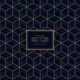 Abstract hexagonal line dark pattern background. Vector Stock Illustration