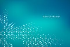 Abstract hexagonal molecule background, genetic and chemical compounds, scientific or technological concept vector. Abstract hexagonal molecule background Royalty Free Stock Image