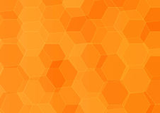 Abstract hexagonal orange background Royalty Free Stock Images