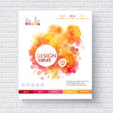 Abstract hexagonal pattern design template Royalty Free Stock Photos
