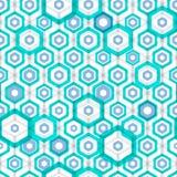 Abstract hexagonal seamless pattern Stock Photos