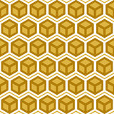 Abstract hexagonal seamless pattern Royalty Free Stock Images