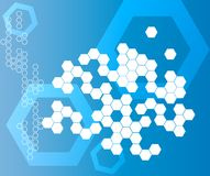 Abstract Hexagonal Shapes Background blue Royalty Free Stock Images