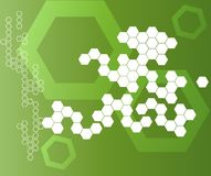 Abstract Hexagonal Shapes Background Stock Photo