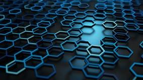 Abstract hexagonal structure Stock Photos