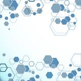 Abstract hexagonal structures Stock Photography