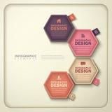 Abstract hexagonal tag infographics Royalty Free Stock Photos