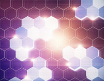 Abstract hexagonal texture Royalty Free Stock Images