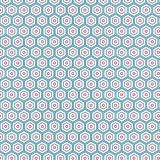 Abstract Hexagonal Unique Colorful Pattern Background. Abstract Colorful Hexagonal Diamond Modern Unique  Fabric Fashion Texture Vector Decoration Background Stock Photo