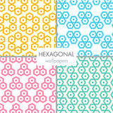 Abstract hexagonal wallpaper Royalty Free Stock Photo