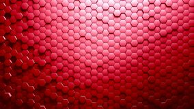 Abstract Hexagons Background. Red color 3d rendering royalty free illustration