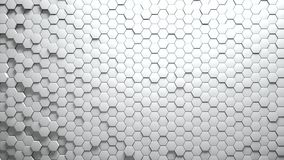 Abstract Hexagons Background. White color 3d rendering Royalty Free Stock Photos