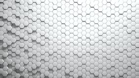 Abstract Hexagons Background. White color 3d rendering vector illustration