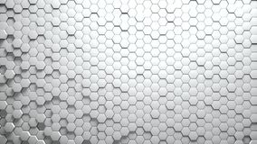 Abstract Hexagons Background. White color 3d rendering Stock Photography