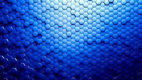 Abstract Hexagons Background. Blue color 3d rendering Royalty Free Stock Photos