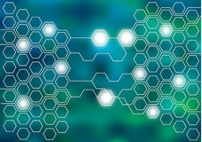 Abstract hexagons background Royalty Free Stock Photography