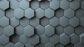 Abstract Hexagons Background. 3d rendering Stock Images