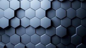 Abstract Hexagons Background. 3d rendering Stock Photo