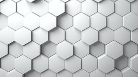 Abstract Hexagons Background. 3d rendering vector illustration