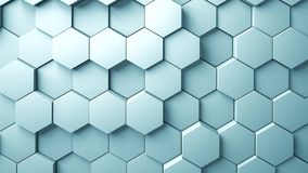 Abstract Hexagons Background. 3d rendering Stock Image