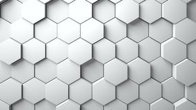 Abstract Hexagons Background. 3d rendering Royalty Free Stock Photography