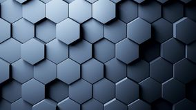 Abstract Hexagons Background. 3d rendering Royalty Free Stock Image