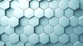 Abstract Hexagons Background. 3d rendering Royalty Free Stock Images