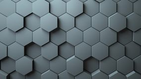 Abstract Hexagons Background. 3d rendering Royalty Free Stock Photos