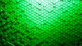 Abstract Hexagons Background. Green color 3d rendering Stock Photo