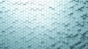 Abstract Hexagons Background Random Motion, 3d Animation stock illustration