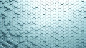 Abstract Hexagons Background Random Motion, 3d Animation stock video footage