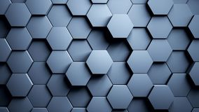 Abstract Hexagons Background Random Motion, 3d Animation vector illustration