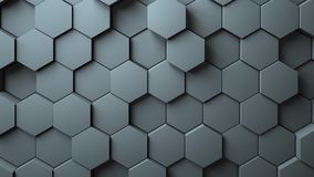 Abstract Hexagons Background Random Motion, 3d Loopable Animation stock video footage