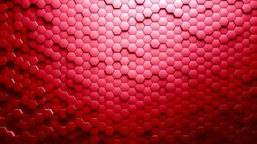 Abstract Hexagons Background. Red color 3d rendering stock illustration
