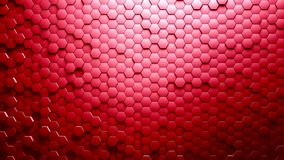 Abstract Hexagons Background. Red color 3d rendering Stock Photo
